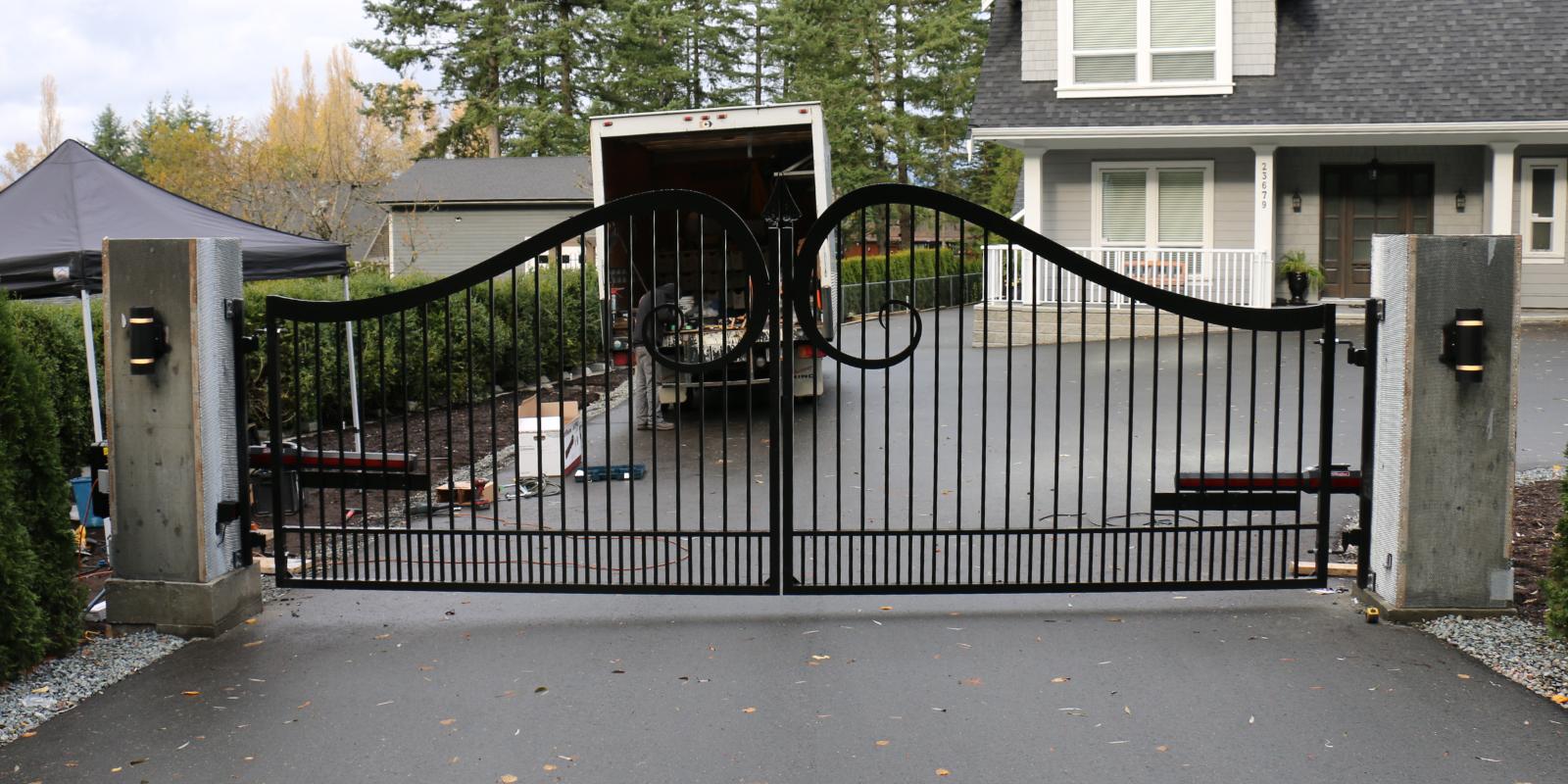Driveway Gate Scroll Gate Langley Aldergrove