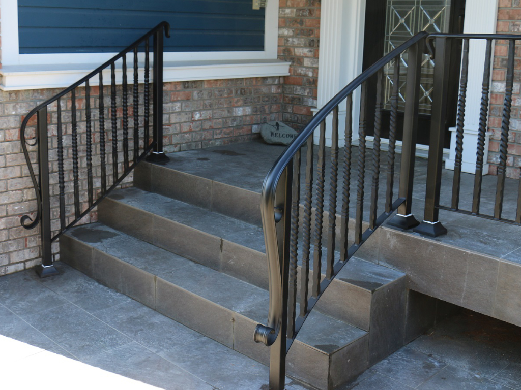 curved railing with heavy twisted pickets surrey portfolio 10