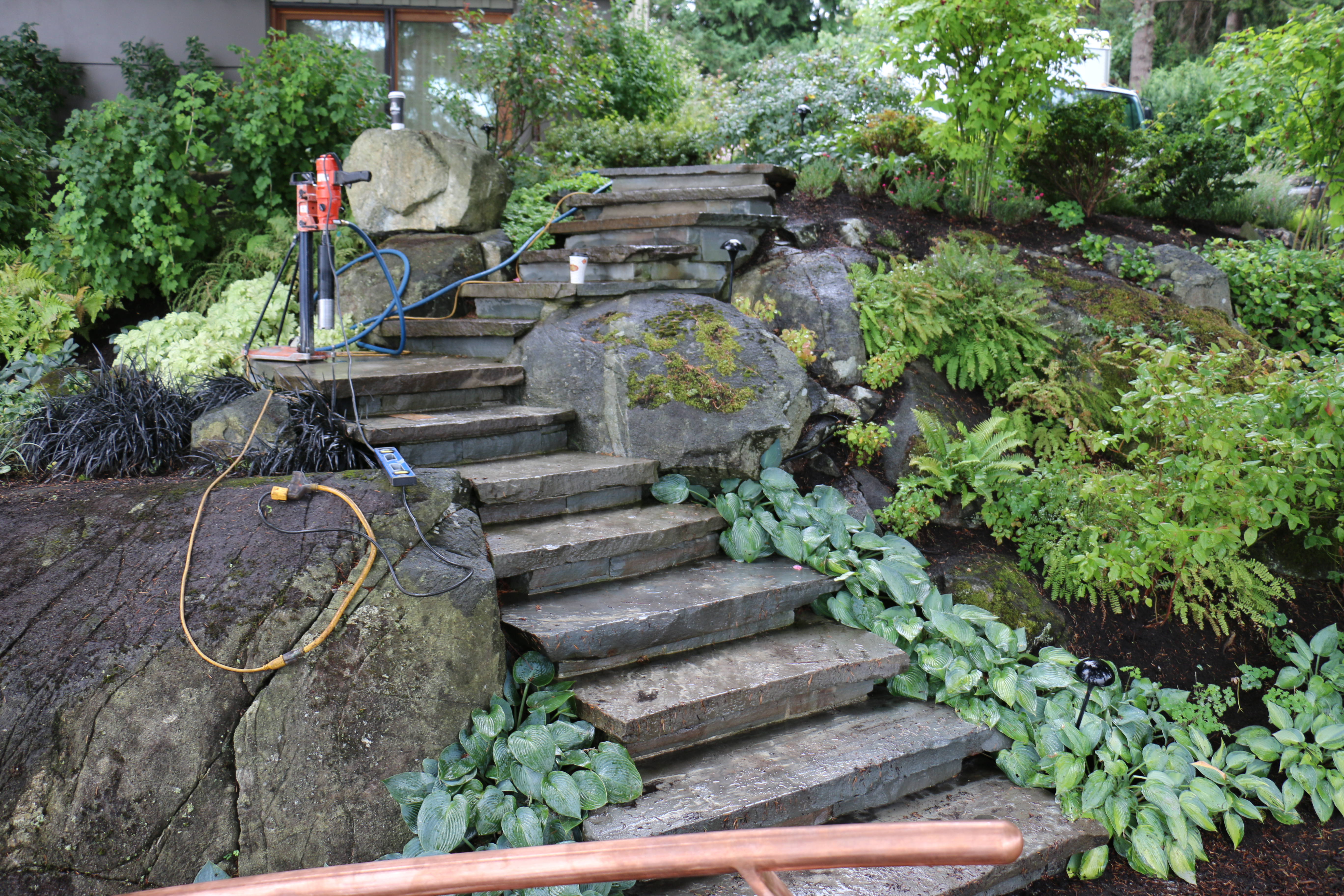 Pure Copper Curved Railing, West Vancouver, Portfolio #15 8