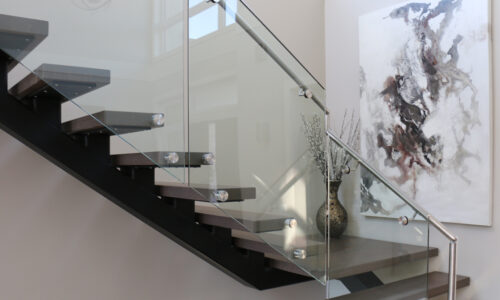 Modern stairscase in Mission, B.C.